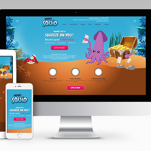 Landing page design and website coding