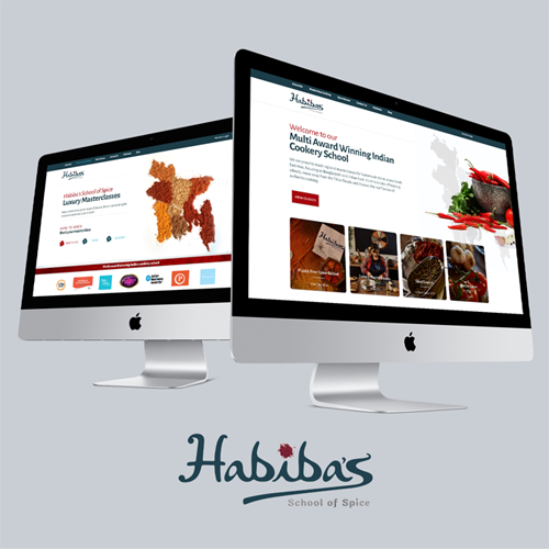 Hand-coded website for Habibas School of Spice